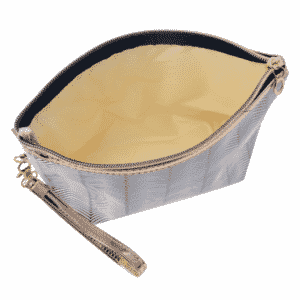 toilettas goud binnenkant