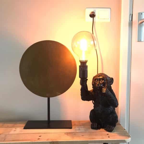 tafellamp aap zwart