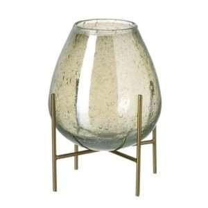 Glazen vaas op voet