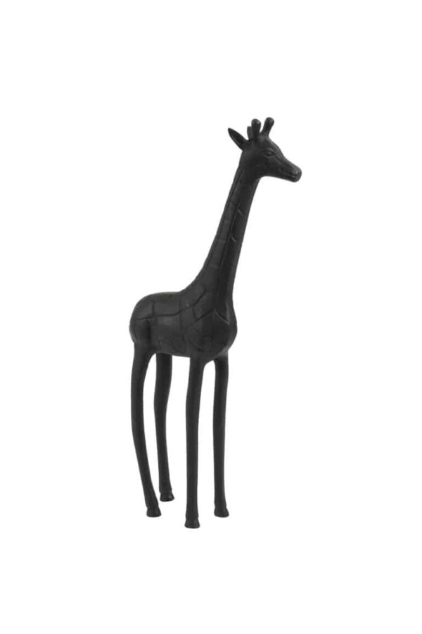 Ornament giraffe zwart