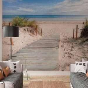 fotobehang strand en zee