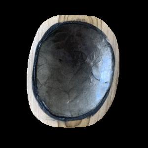 schaaltje amberblokje grijszwart